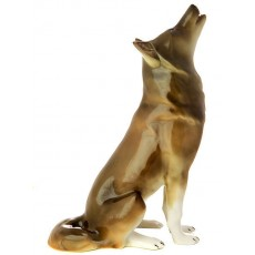 """Скульптура """"Волк сидящий"""""""