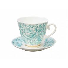 """Чашка с блюдцем чайная Гвоздика """"Лето Зеленое"""""""