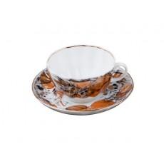 """Чашка с блюдцем чайная Тюльпан """"Мой сад"""""""