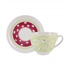 Чашка с блюдцем чайная Весенняя Весенний бриз