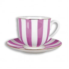 """Чашка с блюдцем Ландыш """"Да и Нет"""" (с отв. светло-розовый), 180 мл."""