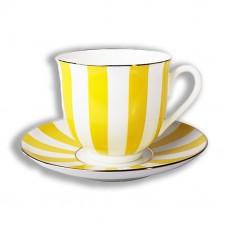 """Чашка с блюдцем Ландыш """"Да и нет"""" (желтый), 180 мл."""
