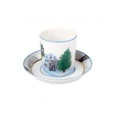 """Чашка с блюдцем чайная Гербовая """"Зима"""", 220 мл."""