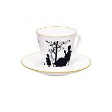 """Чашка с блюдцем Черный кофе """"Семья"""""""