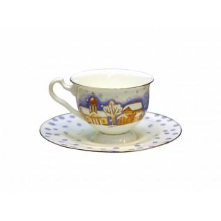 """Чашка с блюдцем чайная Айседора """"Снегопад"""""""
