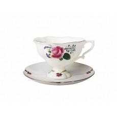 Чашка с блюдцем чайная Наташа Невеста