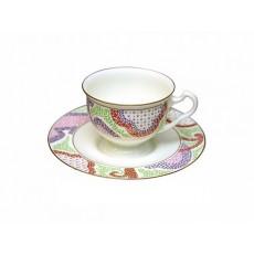 """Чашка с блюдцем чайная Айседора """"Мариенталь"""" (розовый)"""