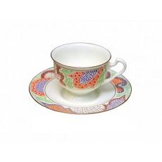 """Чашка с блюдцем чайная Айседора """"Мариенталь"""" (оранжевый)"""