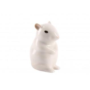 Скульптура  Мышь-малютка N2  Альбинос